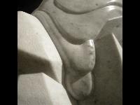 Skulpturendetail, Carrara Marmor