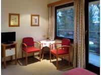 Zimmer mit Balkon zum Kurpark und Garten für 2-3 Personen