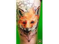 ´Geometric Fox Tattoo´