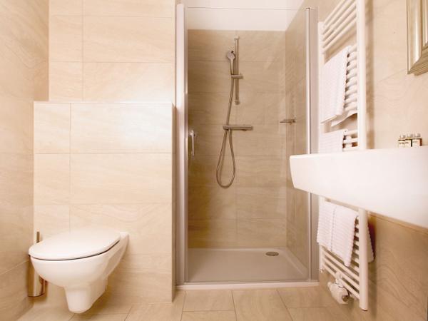 Badezimmer im Pfeiler´s Bürgerstüberl - Hotel