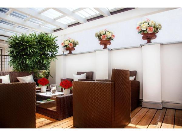 Terrasse im Pfeiler´s Bürgerstüberl - Hotel