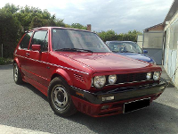 VW Golf   Cherry Red