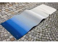 ABSTRACT BLUE (Auftragsarbeit)  - gewebt in Leinen 96 cm x 275 cm