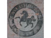 auf alt getrimmte Logomalerei in Innsbruck