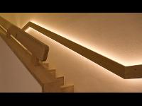 Einfamilienhaus Treppe Handlauf Design LED Effekt, ADLHART Architekten