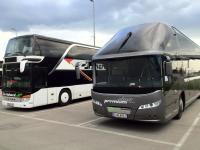 Premium Class (Neoplan Starliner) und Stockbus (Setra)