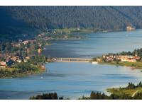 Luftaufnahme Techendorf mit Seebrücke