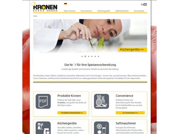 Website Kronen Großküchen