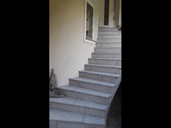 Stufen aus Alp-Granit hellgrau
