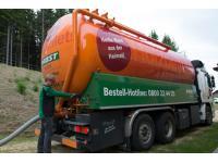 Pabst-Pellets bequem zugestellt per Pump-LKW.
