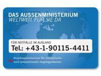 Für Notfälle im Ausland - Das Aussenministerium- weltweit für Sie da - 24h erreichbar!