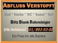ABFLUSS BLITZ BLANK - Rohrreinigung - A.R.S. - 365 Tage