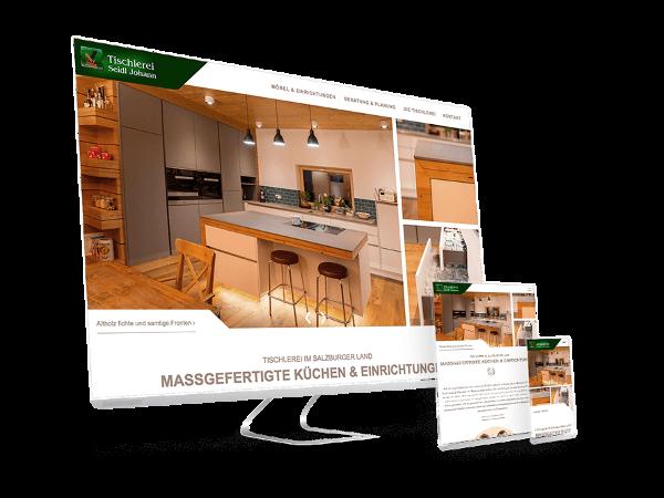 Vorschau - Innovative Website für innovative Tischlerei
