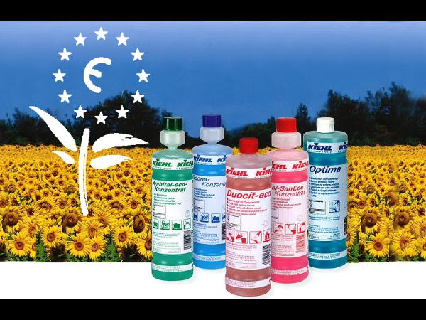 Unser Betriebshygiene Sortiment mit Eco Label für eine gute Zusammenarbeit mit unserer Umwelt