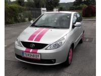 Pink-Streifen vorne