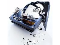 Fatal zerbrochene Magnetscheiben einer Festplatte