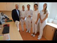 Feldbach: Besuch des Bürgermeisters in der Augenarztpraxis Dr. Achtschin