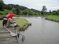 Fischen-entspannen-genießen am eigenen Teich