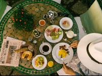 Organic Breakfast in Garden