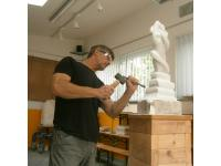 """Bildhauermeister Reinhard Winter """"at work"""""""