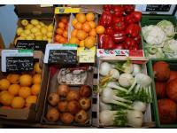 Obst und Gemüse je nach Jahreszeit