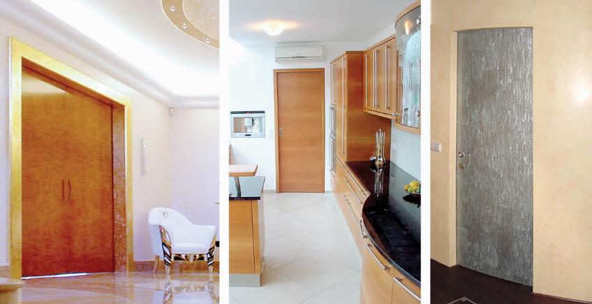 Kreativer Innenausbau: Zweiflügelige Schiebetüren mit Synchronantrieb, Vollbau- oder Nurglastüren in gerader oder gebogener Ausführung.