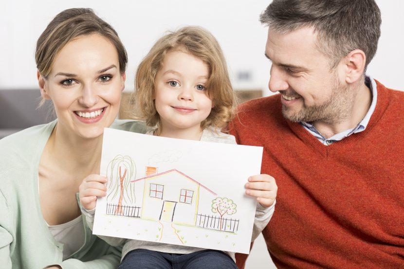 Das Satteldach ist die beliebteste Dachform bei Kinderzeichnungen