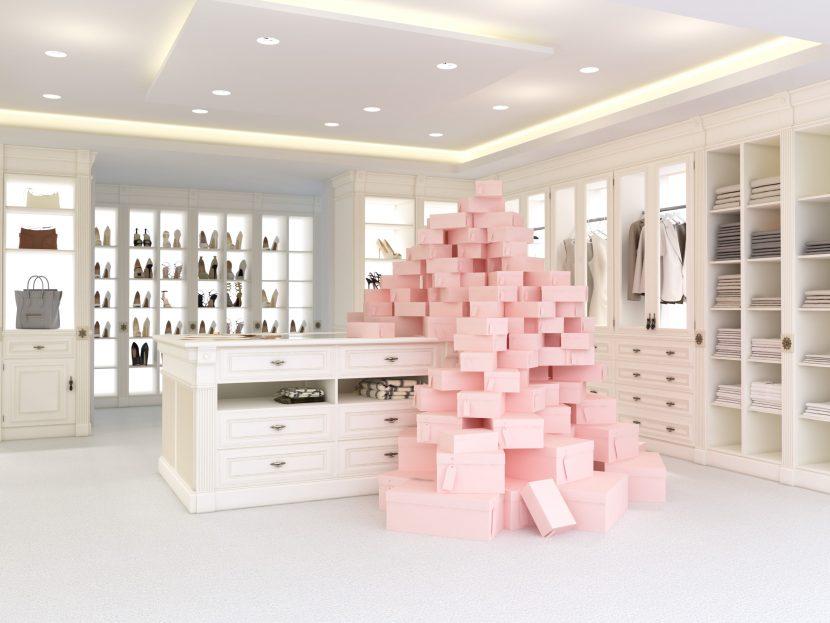 Begehbarer kleiderschrank rosa  Ankleidezimmer selbst einbauen? Das Geheimnis des begehbaren ...