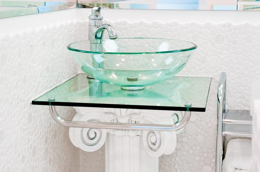 Waschtisch aus Glas