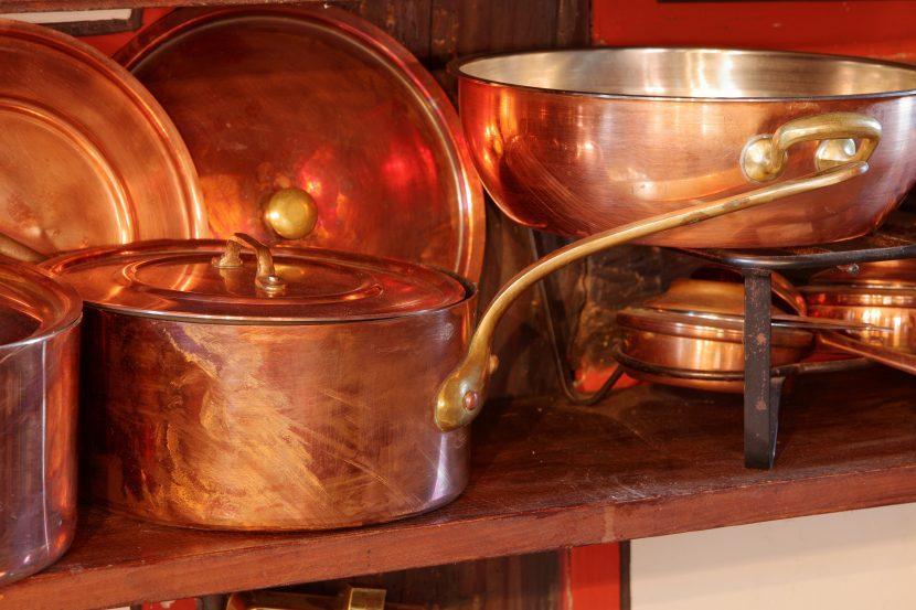 Küchengeschenk: Kupfergeschirr