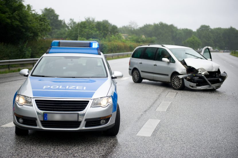 Unfall Schuldfrage Polizei