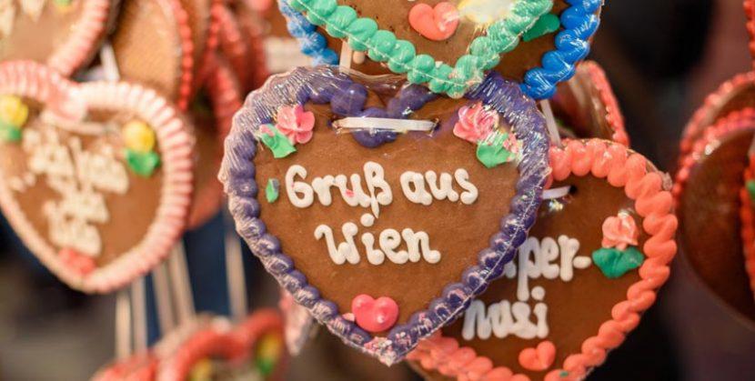 Gruß aus Wien Lebkuchenherz Souvenir