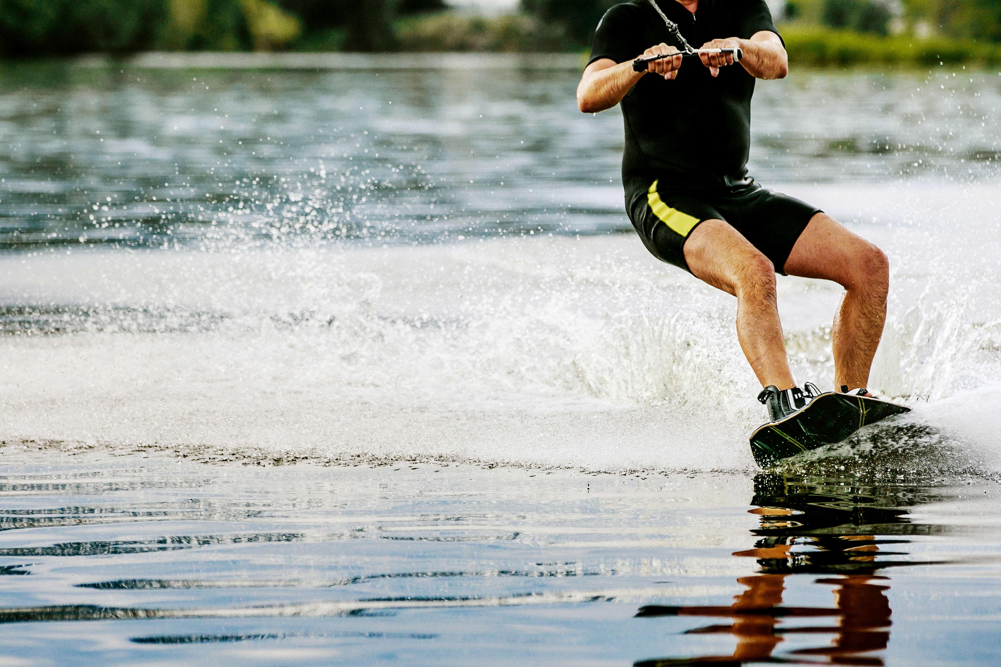 Wakeboarding auf der Donau in Wien