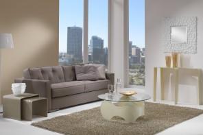 Glasdesignmöbel aus gebogenem Glas − trendiges Wohnen mit Stil