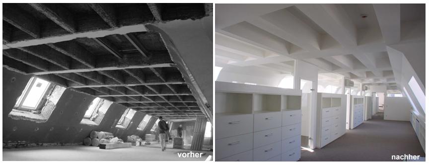 Kreativer Innenausbau: Büroumbau Dachgeschoß