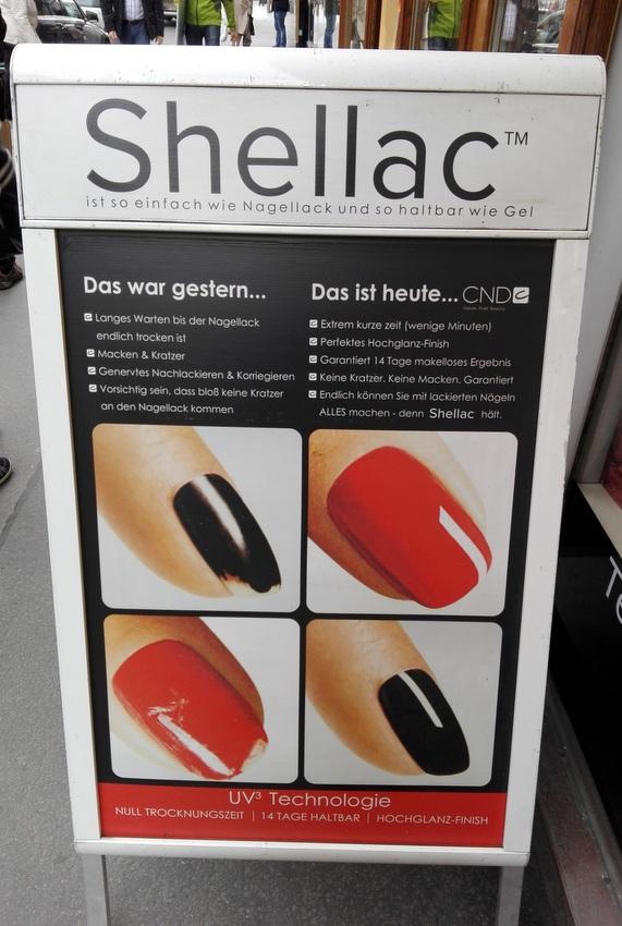 Werbung für die Vorteile von Shellac Nägeln - HEROLD.at