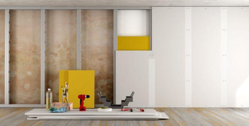rigips im innenausbau trennwand einziehen wie der profi. Black Bedroom Furniture Sets. Home Design Ideas
