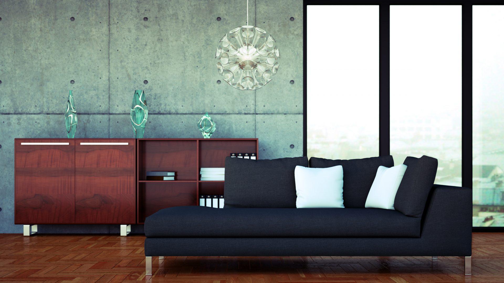 eine wohnung mit sichtbeton kostet nicht viel. Black Bedroom Furniture Sets. Home Design Ideas