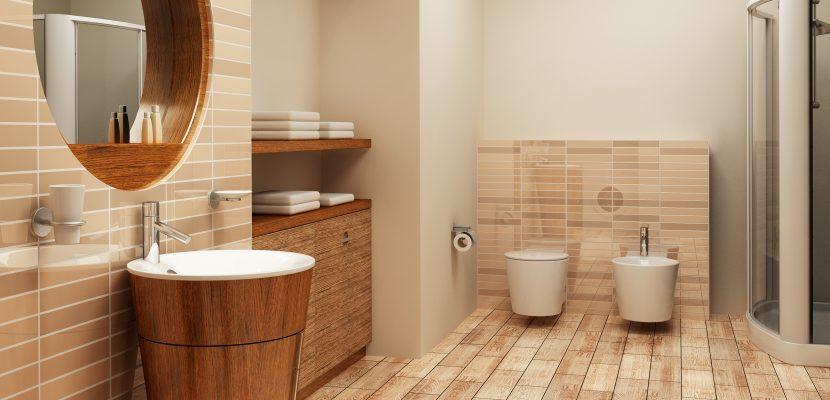 ... Badezimmer In Holzoptik ...