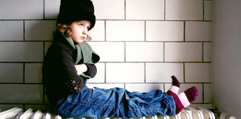 Heizung ausgefallen Kind friert