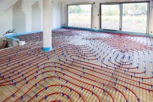 Fußbodenaufbau mit Fußbodenheizung