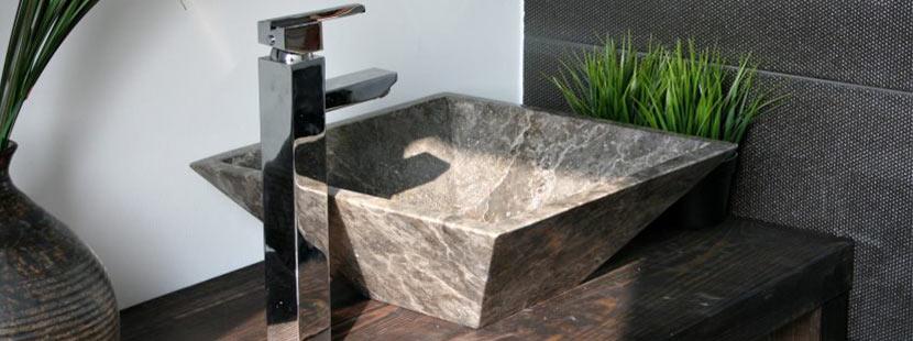 Aufsatzwaschbecken aus Stein