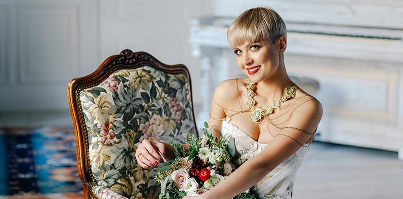 Hochzeitsfrisur Kurzhaar