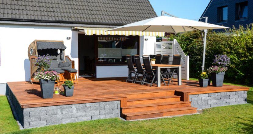 terrasse bauen schritt f r schritt anleitung. Black Bedroom Furniture Sets. Home Design Ideas