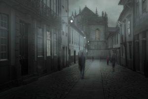 Dunkle Gestalten im morbiden Wien
