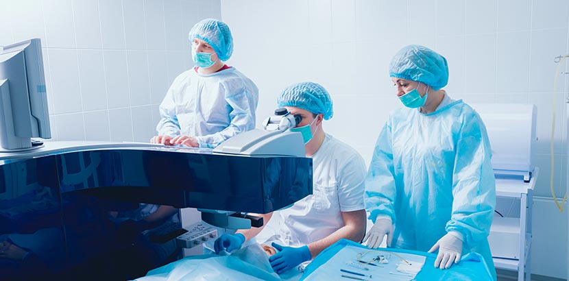 Augenlaser Operation