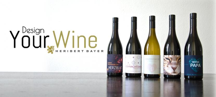 Geschenke für Männer. Design you Wine, ein Service der Weinkellerei Heribert Bayer.