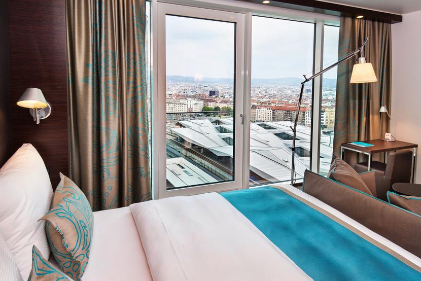 Low Budget Design Hotels, Kette, ein Zimmer von Motel One am Wiener Hauptbahnhof, Bild (c) Motel One