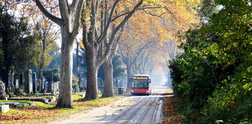 Buslinie 106 am Zentralfriedhof Wien