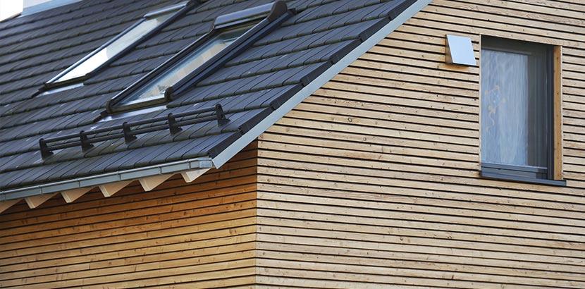 Hausfassade aus Holz